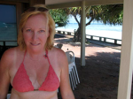 Christine in pink bikini, somewhere in Australia